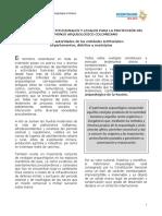 LINEAMIENTOS CONSTITUCIONALES Y LEGALES PARA LA PROTECCIÓN DEL PATRIMONIO ARQUEOLÓGICO COLOMBIANO Dirigido a autoridades de las entidades territoriales