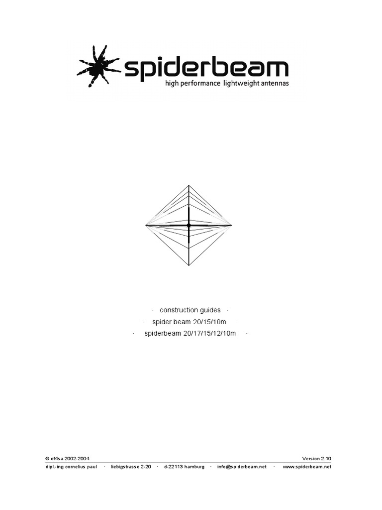 Spiderbeam Construction guide English | Coaxial Cable