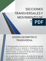 5.0 Secciones Transversales y Movimiento de Tierras