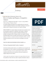 How to Conduct and Prepare a Competitive Analysis Edward Lowe Foundation