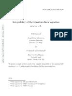 Integrability of the Quantum KdV equation at c −2, Di Francesco