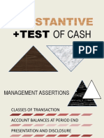 Substantive Test of Cash