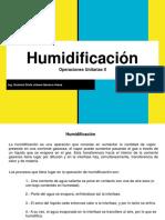 Humidificación y Psicrometría