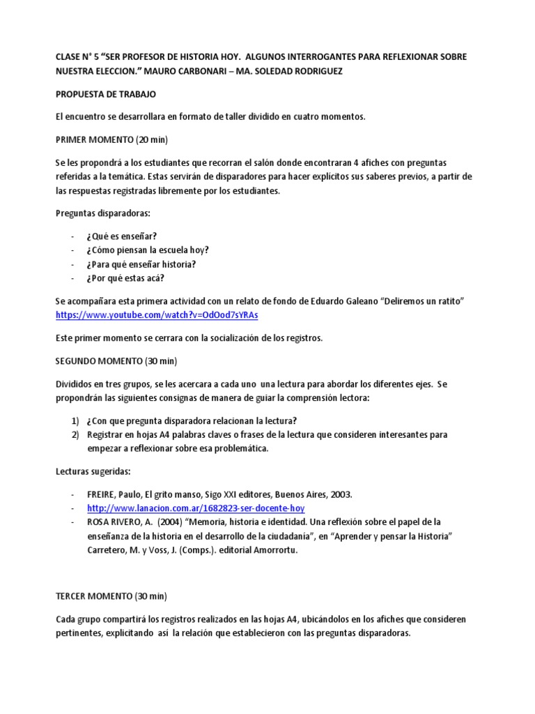 Propedeutico Historia 2015 Clase Nâ 5 Mauro Carbonari Y