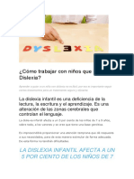 Cómo Trabajar Con Niños Que Padecen Dislexia