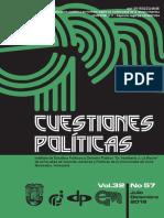 CUESTIONES POLITICAS v32n57 Art 1.PdfJoanMoraTeologíaPolítica