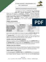 Contrato Alquiler Maquinaria Proveedores