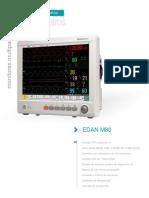Monitor Edan m80 Especificaciones