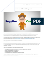 Types of Procurement Contracts Used in Project Management