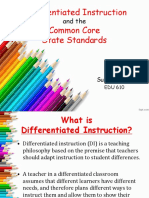 differentiated instruction   the ccss