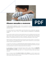 Abusos Sexuales a Menores