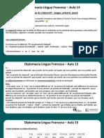 Língua Francesa - Aula 13