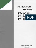 Yaesu FT-101F Instruction Manual