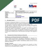 Sílabo - Gerencia de Operaciones (SPOOC) - MBA 116 Sección B