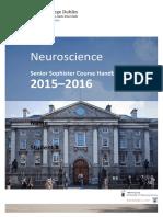 SS Neuroscience Booklet 2015-16
