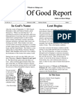 February 6, 2009 Community Church of Mill Valley Newsletter