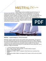 Mistral the Yacht