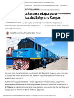 Adjudicaron La Tercera Etapa Para Renovar Las Vías Del Belgrano Cargas