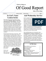 February 19, 2009 Community Church of Mill Valley Newsletter