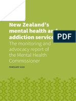 Mental Health Commissioner Monitoring and Advocacy Report 2018