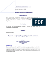 Reglamento Comisión Nacional Del Salario ACUERDO GUBERNATIVO 1319