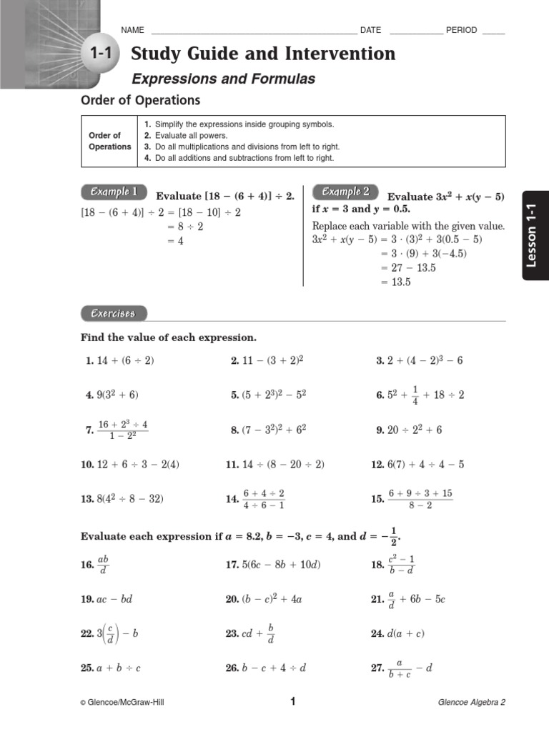 study guide intervention alg22 function mathematics rh es scribd com 10-2 study guide and intervention solving quadratic equations by graphing answers 10-2 study guide and intervention answer key