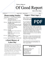 August 21, 2009 Community Church of Mill Valley Newsletter