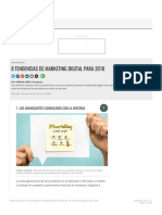 8 Tendencias de Marketing Digital Para 2018