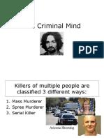Notes Criminal Mind