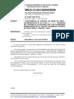 Informe Nº 717 Conformidad de Servicio Valorizacion Nº 01 Para La Contratacion de Servicio de Mano de Obra - Obra Pasaje Cajamarca