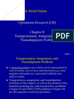 Transportation and Assignment Problem