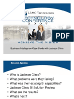 Business Intelligence Case Study Jackson Clinic
