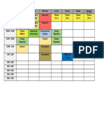 Horario y Planeacion de Estudio