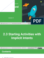 Starting Activities with ImplicitIntents