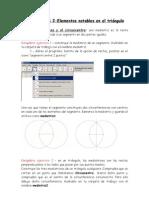 Ejercicios 2 - Geogebra - Rectas y Puntos Notables