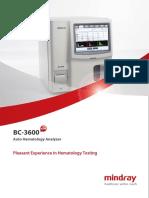 especificaciones equipo Mindray bc3600