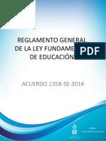 Reglamento General de La Ley Fundamental de Educacion 1