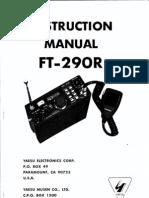 Yaesu FT-290R Instruction Manual