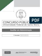 Prova - Auxiliar Em Administração UFSM - 2017
