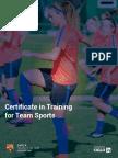 BARCA Universitas - Certificate in Training for Team Sports