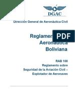 RAB_108 Seguridad de La Aviación Civil