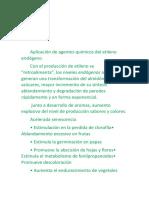 Aplicación de Agentes Químicos Del Etileno Endógeno y Exógeno