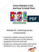 Six Common Mistakes in ESL Writing and How to correct them