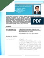 Matheus Urbano Fernandez CV - PUCP