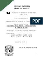 Complejos Tipo Werner (Informe de Laboratorio)
