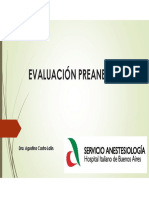 Clase 2. Evaluación Preanestésica