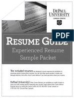 Experienced Level Sample Resume Packet 15.pdf