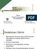 Manajemen Kinerja 1 Dan 2
