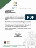 Carta de la Tercera División a la FMF