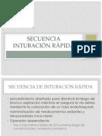 Secuencia Intubación Rápida